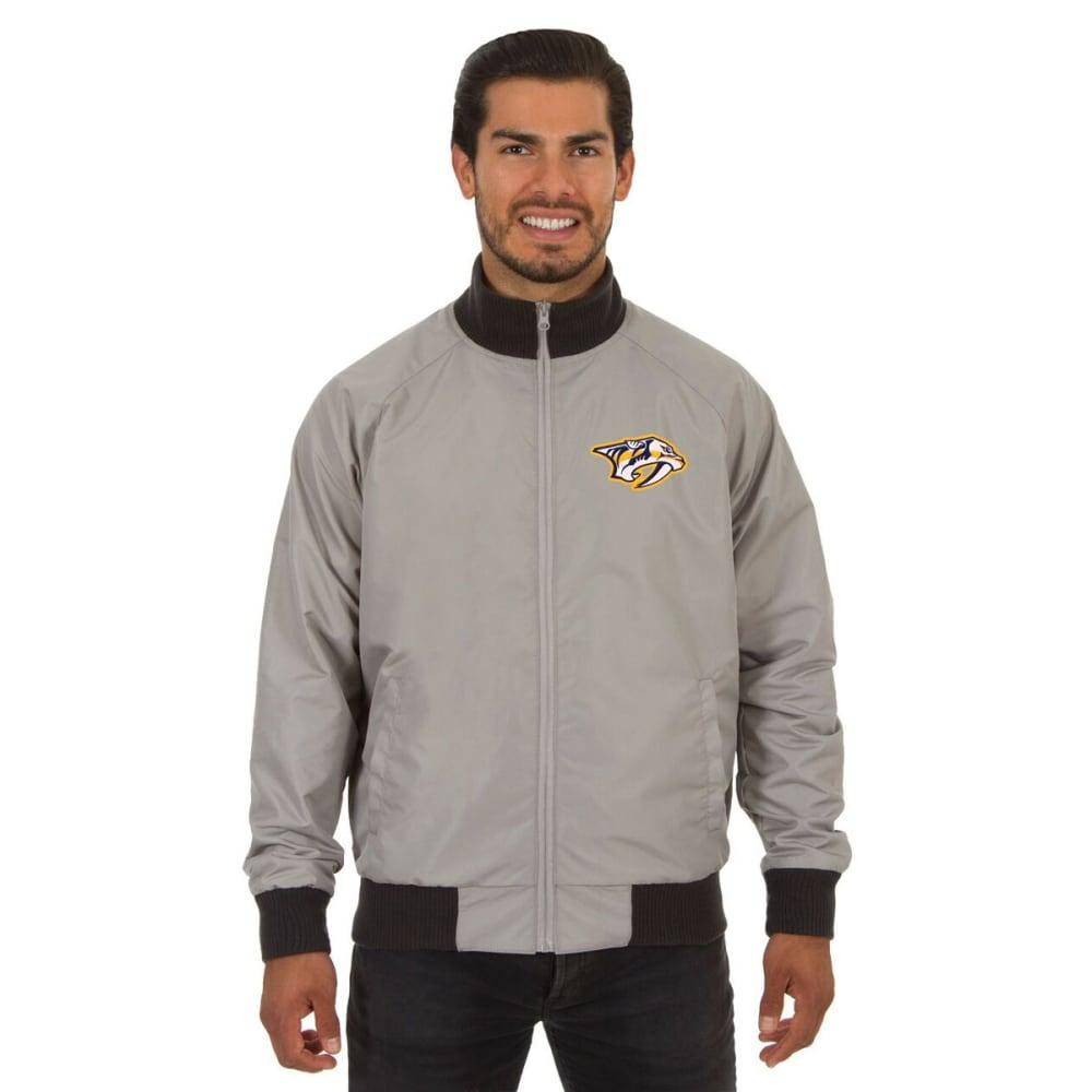 NASHVILLE PREDATORS Men's Reversible Embroidered Track Jacket - SLATE GRAY