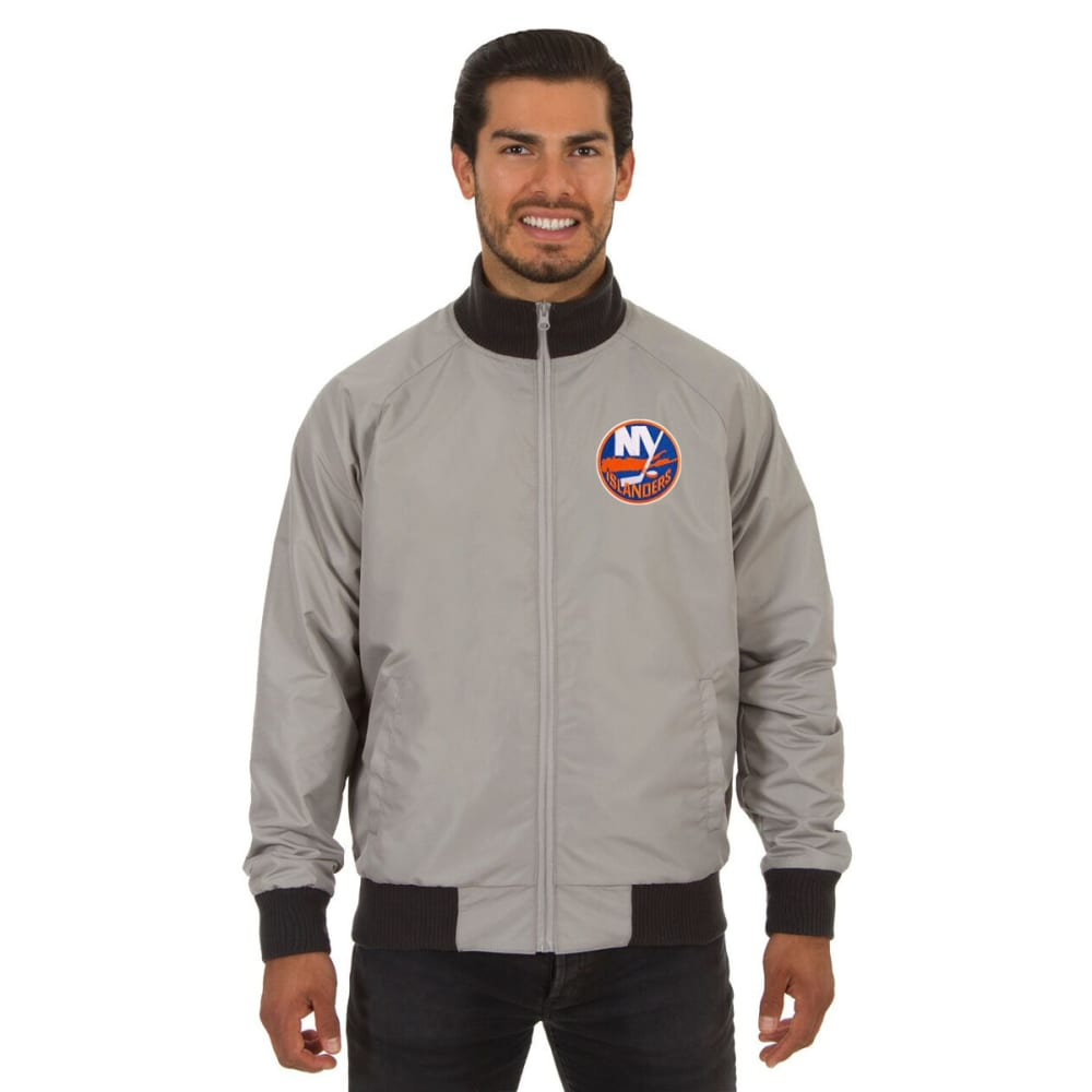 NEW YORK ISLANDERS Men's Reversible Embroidered Track Jacket - SLATE GRAY