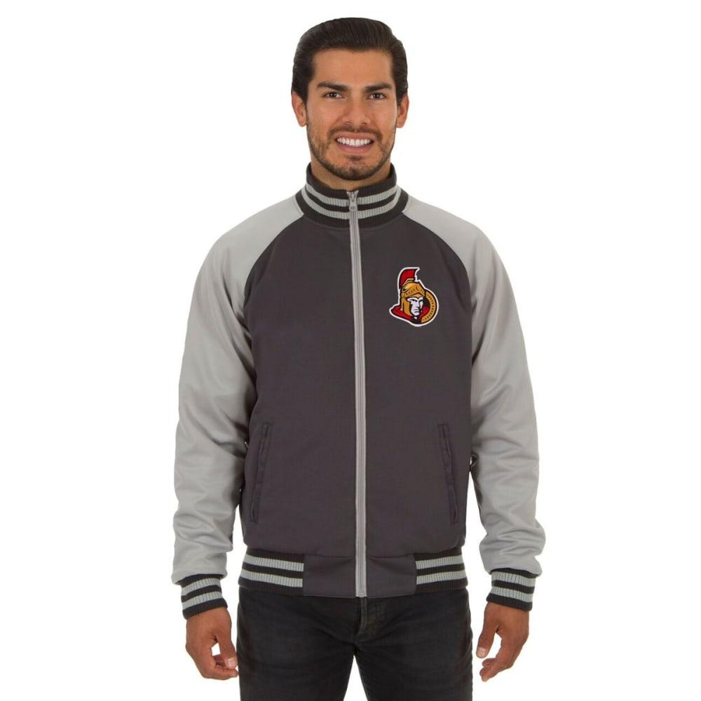 OTTAWA SENATORS Men's Reversible Embroidered Track Jacket - SLATE GRAY