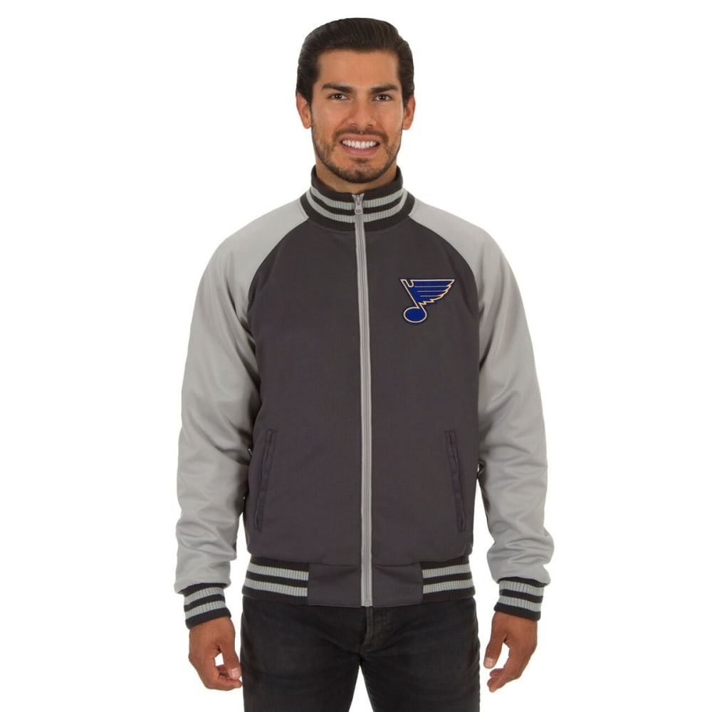 ST. LOUIS BLUES Men's Reversible Embroidered Track Jacket - SLATE GRAY