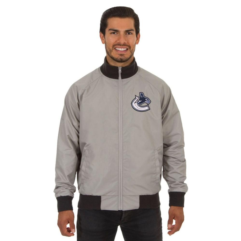 VANCOUVER CANUCKS Men's Reversible Embroidered Track Jacket - SLATE GRAY