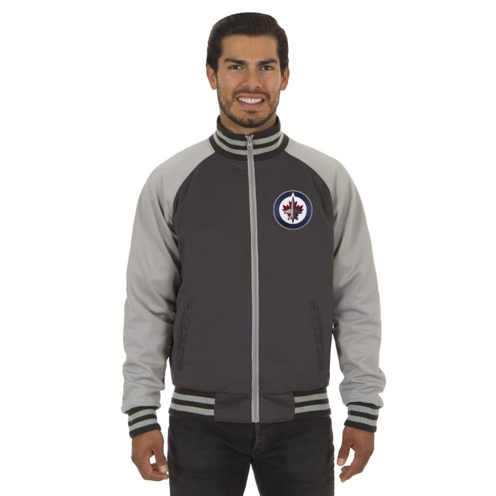 WINNIPEG JETS Men's Reversible Embroidered Track Jacket - SLATE GRAY