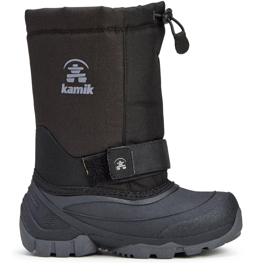 KAMIK Boys' Frostman 2 Waterproof Winter Boots, Black - BLACK