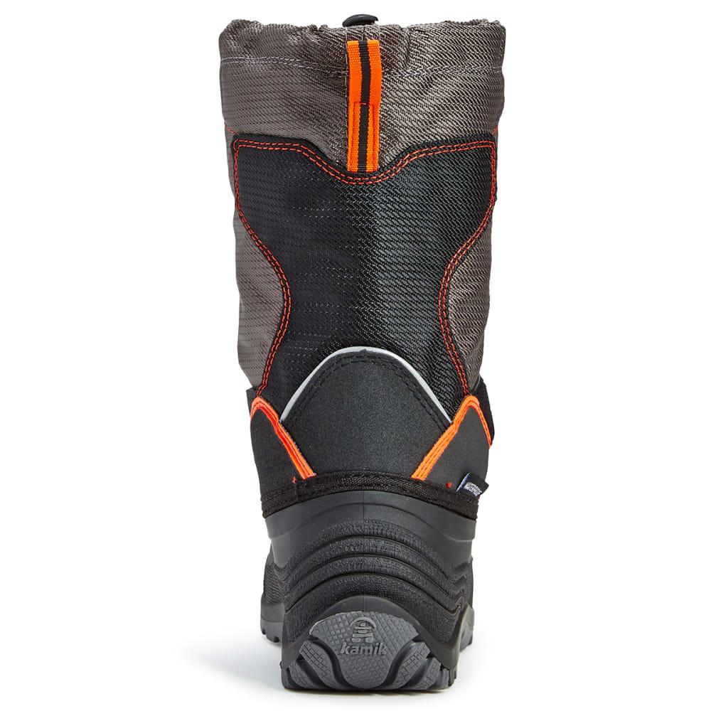 KAMIK Boys' Snowcoast Waterproof Tall Winter Boots, Charcoal - CHARCOAL