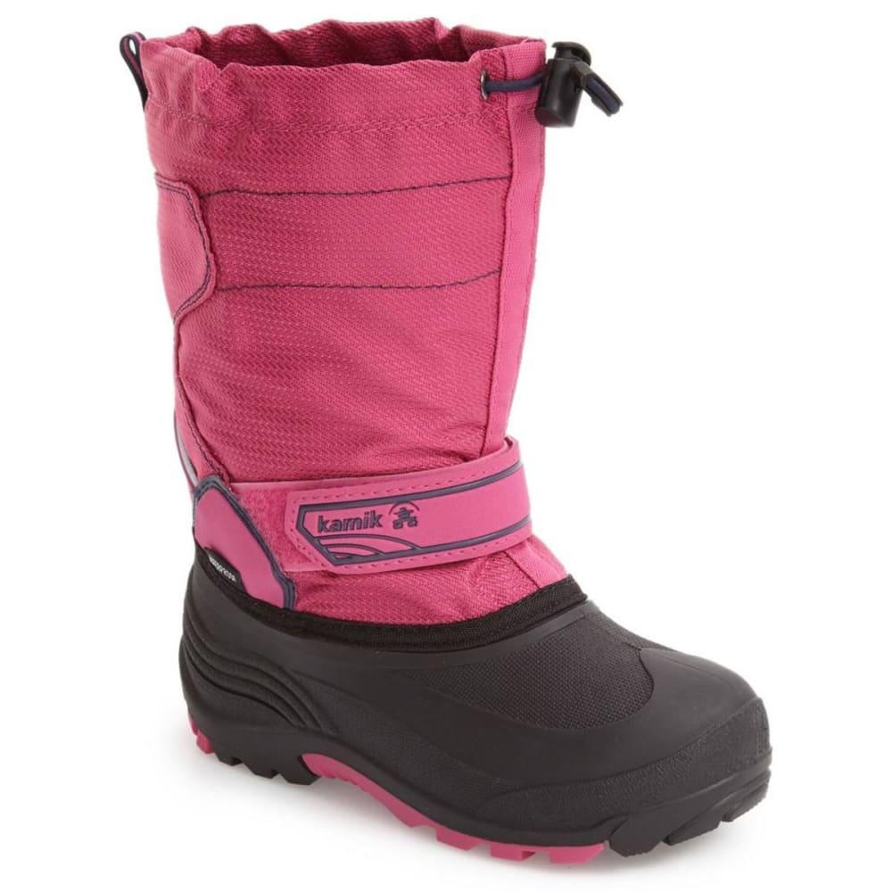 KAMIK Little Girls' Snowcoast Waterproof Winter Boots, Magenta - MAGENTA