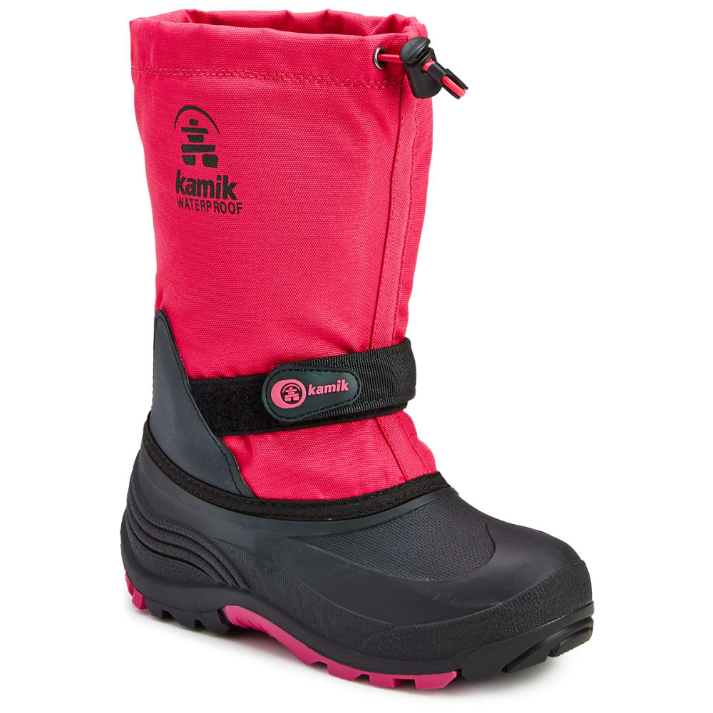 KAMIK Girls' Waterbug Waterproof Tall Storm Boots, Rose 4