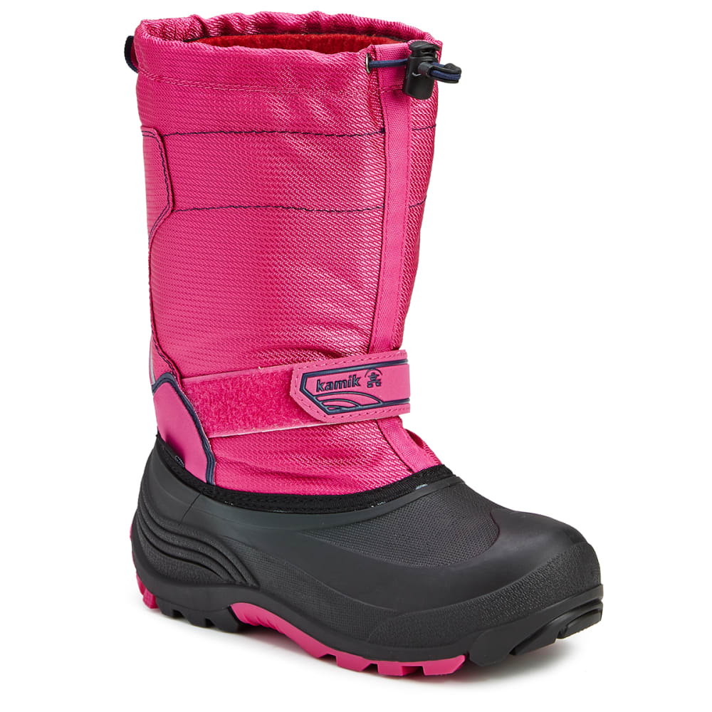 KAMIK Big Girls' Snowcoast Waterproof Winter Boots, Magenta - MAGENTA