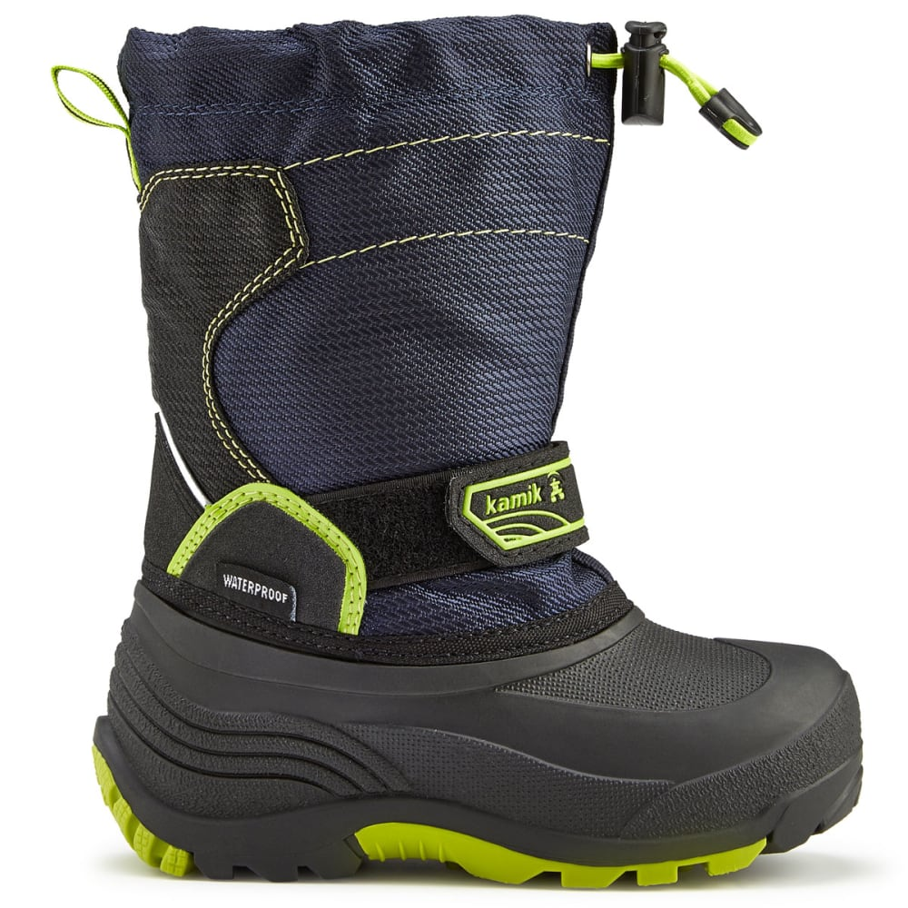 KAMIK Boys' Snowcoast Waterproof Tall Winter Boots, Navy - NAVY
