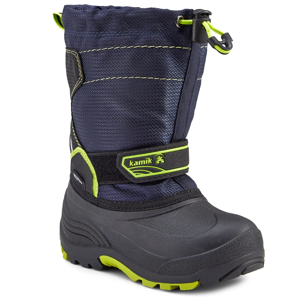 KAMIK Boys' Snowcoast Waterproof Tall Winter Boots, Navy - NAVY
