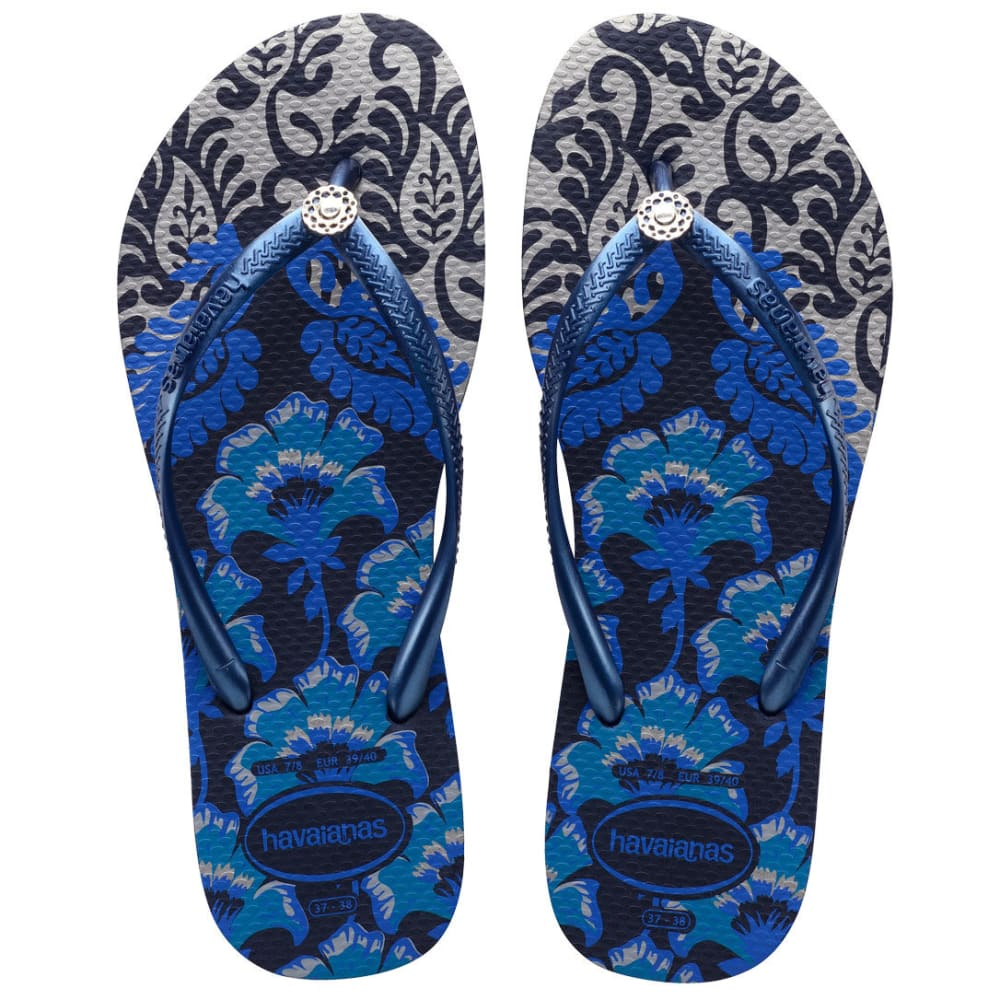 HAVAIANAS Women's Slim Royal Sandal - NVY BLUE-4368