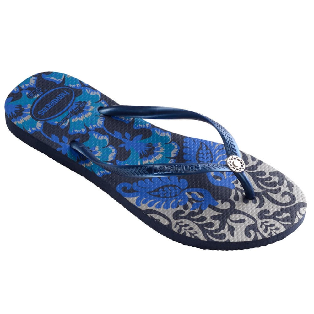HAVAIANAS Women's Slim Royal Sandal - NVY BLUE-4368