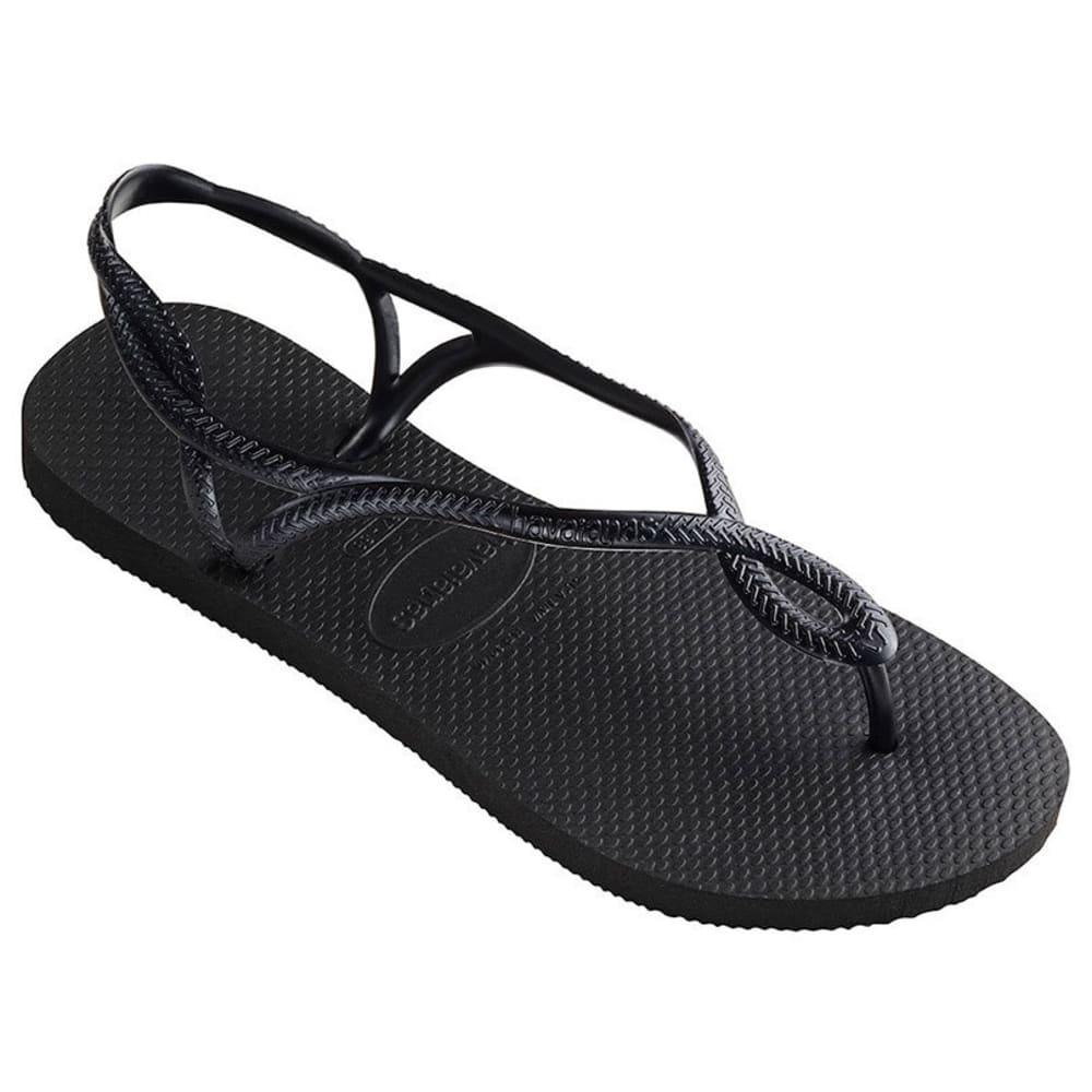 HAVAIANAS Women's Luna Sandal - BLACK-0090