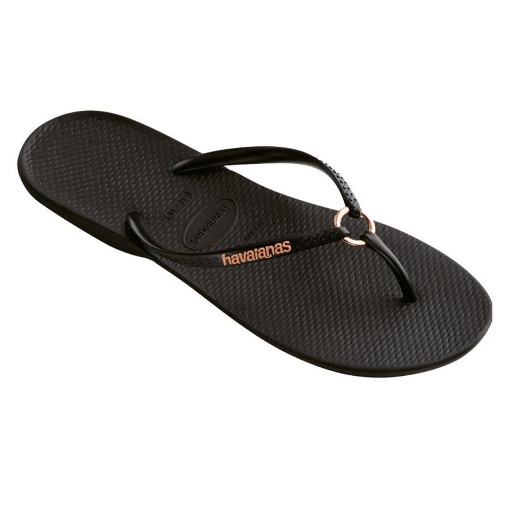 HAVAIANAS Women's Ring Sandal - BLK/BLK-1069