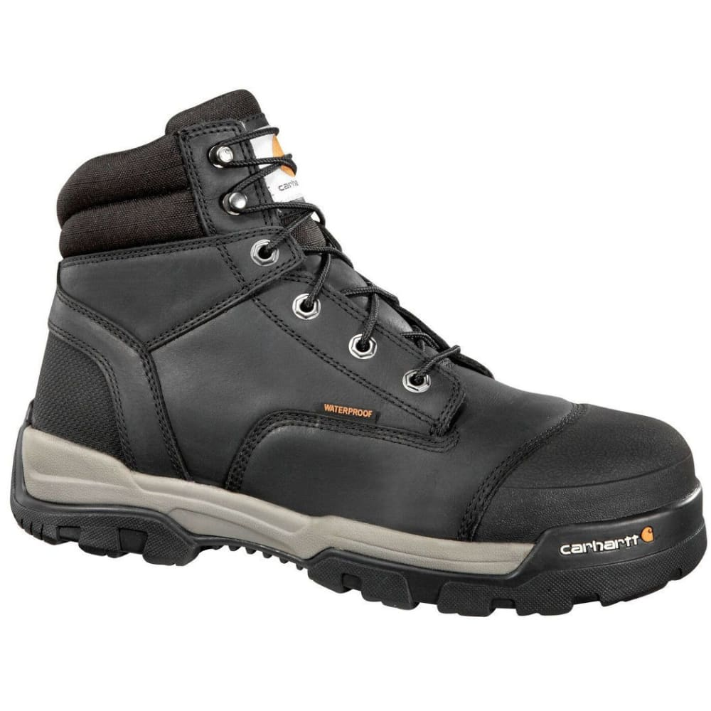 CARHARTT Men's 6-Inch Ground Force Work Boots - BLACK OIL TANNED