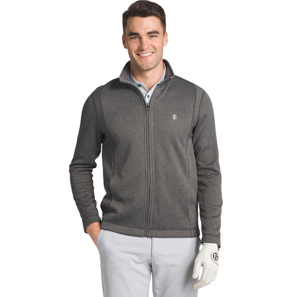 IZOD Men's Golf Water-Repellent Long-Sleeve Pullover - 001-BLACK