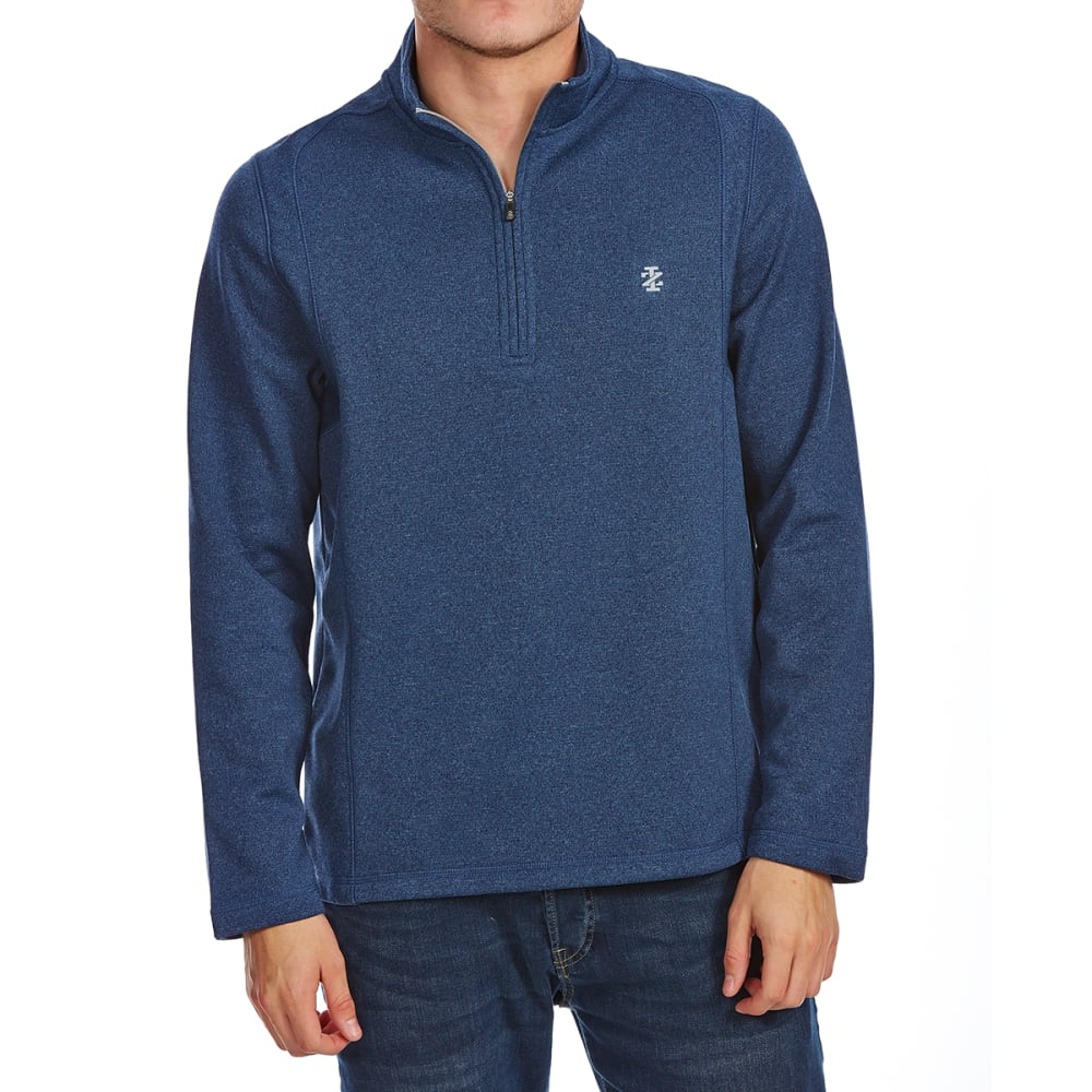IZOD Men's Golf Water-Repellent ¼-Zip Long-Sleeve Pullover - 432-CLUB BLUE