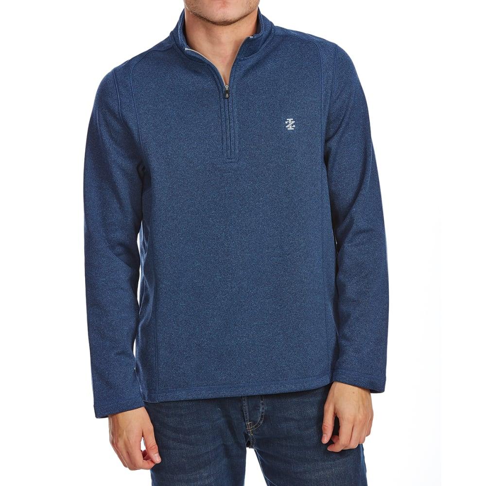 Izod Men's Golf Water-Repellent 1/4 Zip Long-Sleeve Pullover - Blue, M