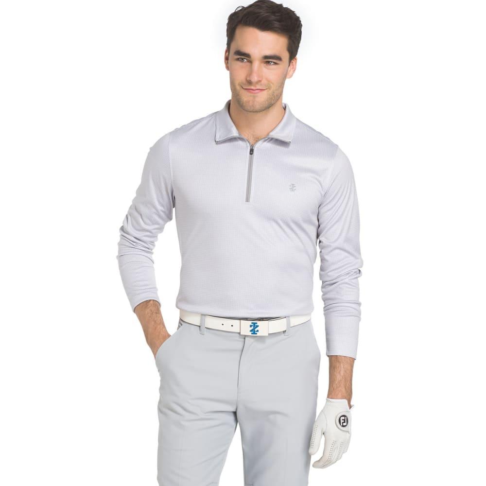 IZOD Men's Golf Houndstooth ¼-Zip Long-Sleeve Pullover - 031-CINDER BLOCK
