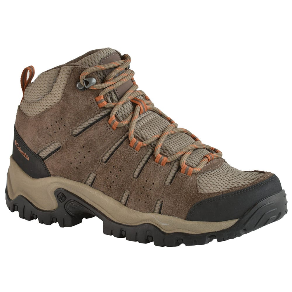 COLUMBIA Men's Lakeview Mid Hiking Boots, Wide - PEBBLE/DK GINGER