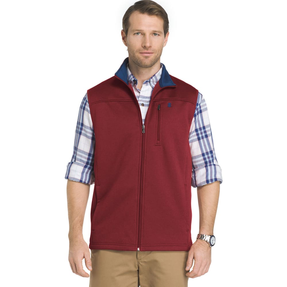 IZOD Men's Spectator Fleece Vest - 604-BIKING RED HTR