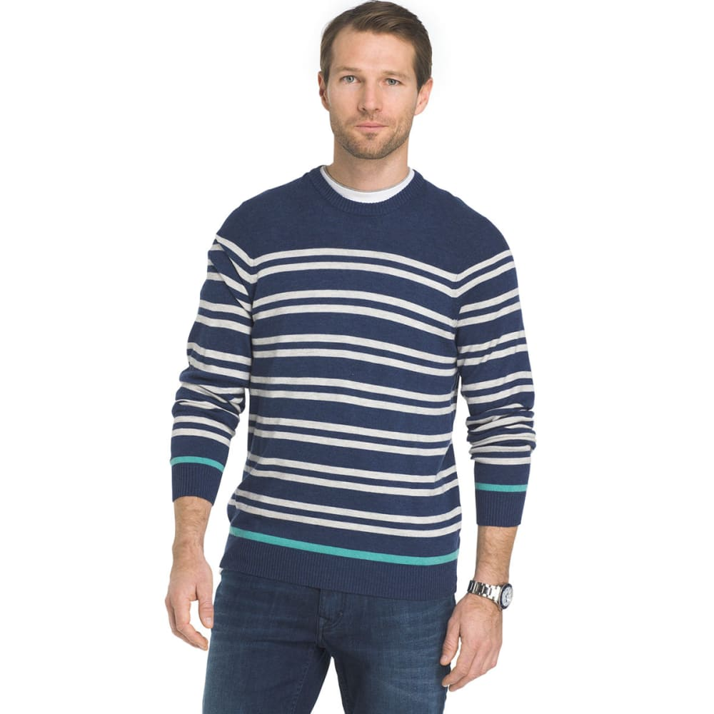 IZOD Men's 12gg Durham Long-Sleeve Sweater - 449-ESTATE BLUE HTR