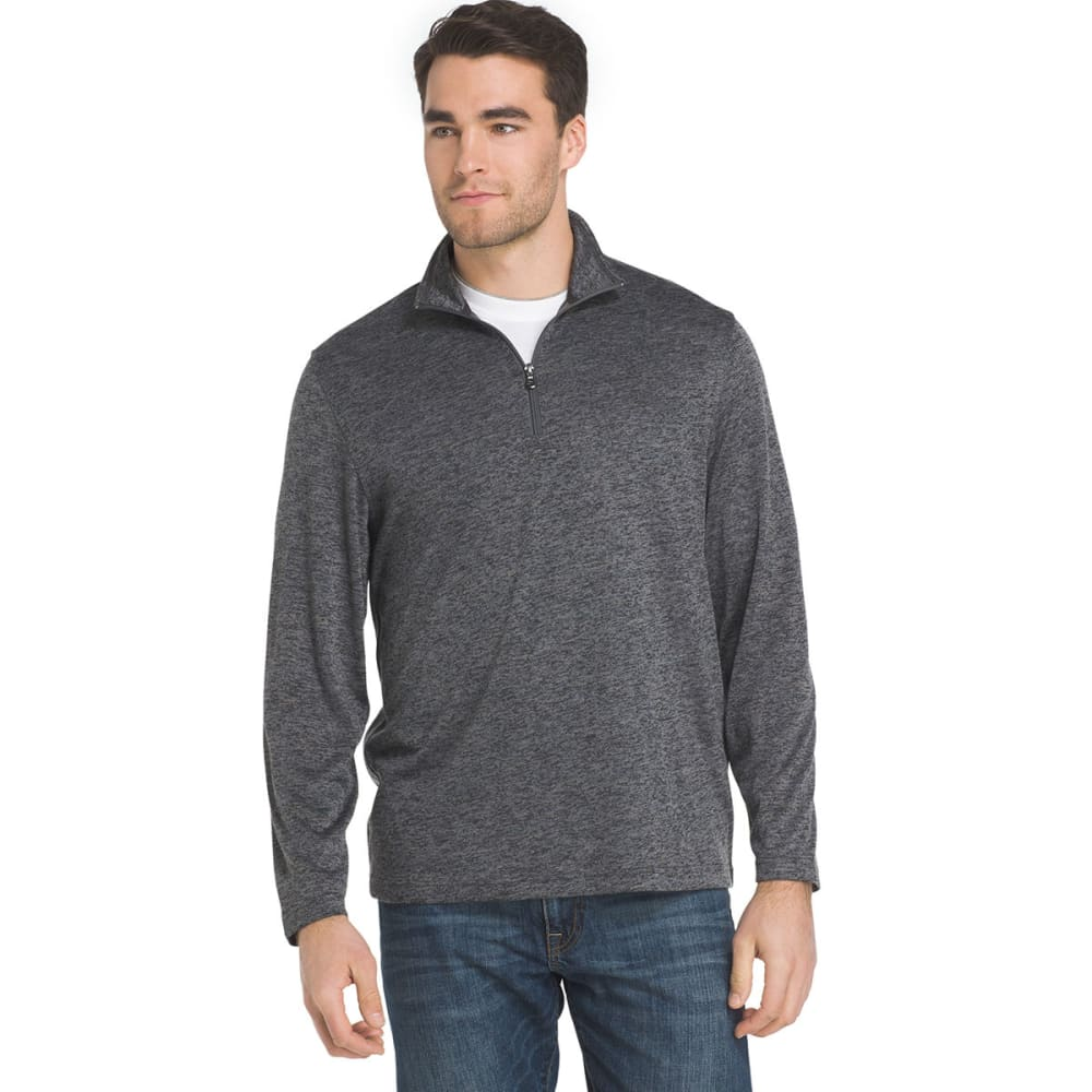 IZOD Men's Advantage Performance Marled Knit ¼-Zip Fleece Pullover - 031-CINDER BLOCK