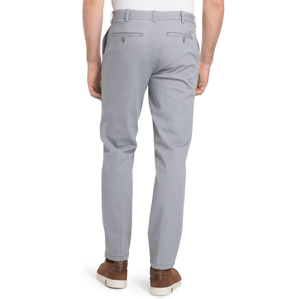 IZOD Men's Saltwater Chino Straight Flat-Front Pants - 031-CINDER BLOCK
