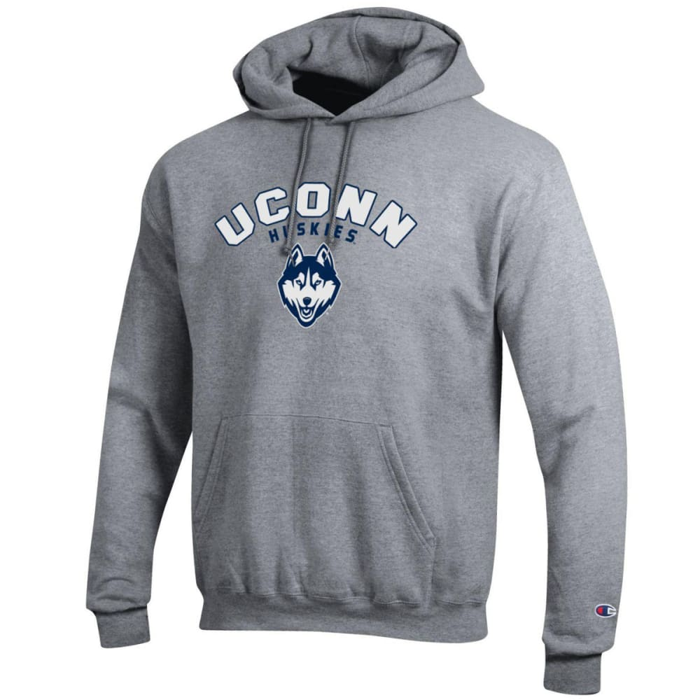 CHAMPION Men's UConn Eco Powerblend Pullover Hoodie - GREY