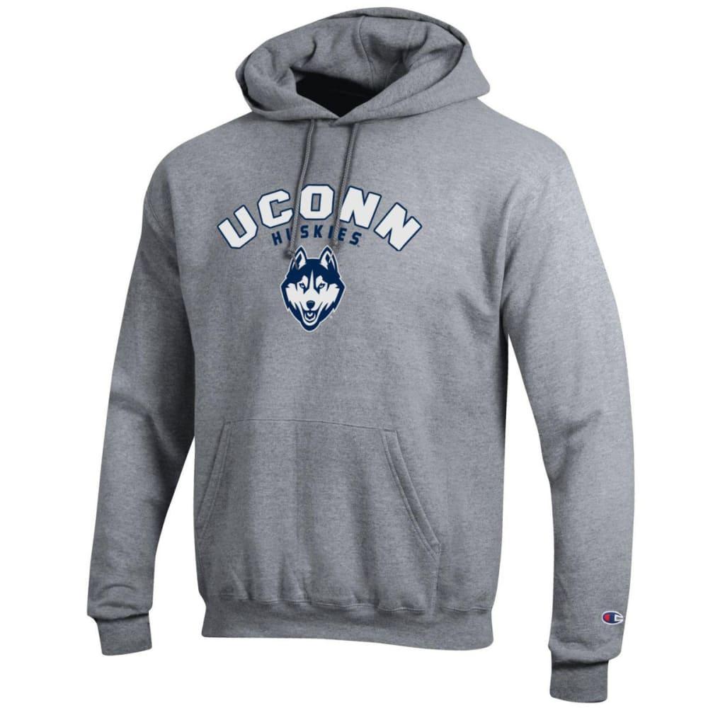 CHAMPION Men's UConn Eco Powerblend Pullover Hoodie - GREY