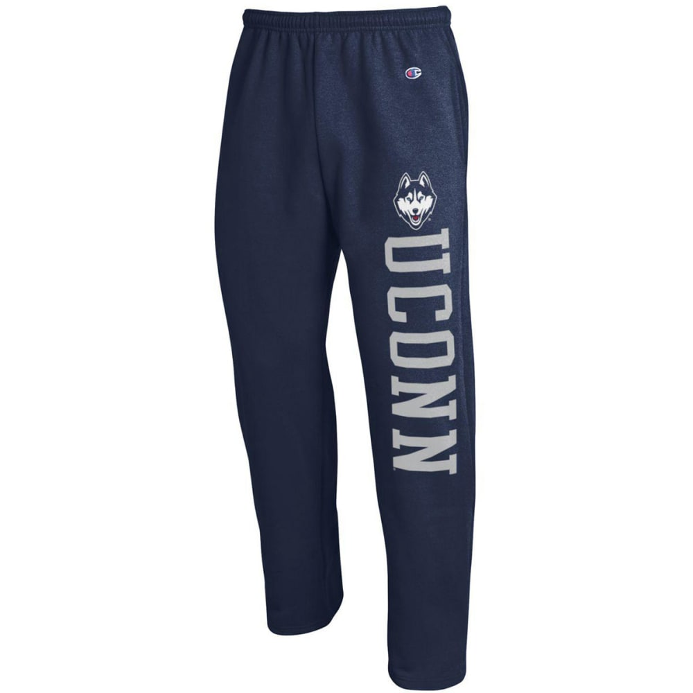 CHAMPION Men's UConn Eco Powerblend Banded Sweatpants - NAVY