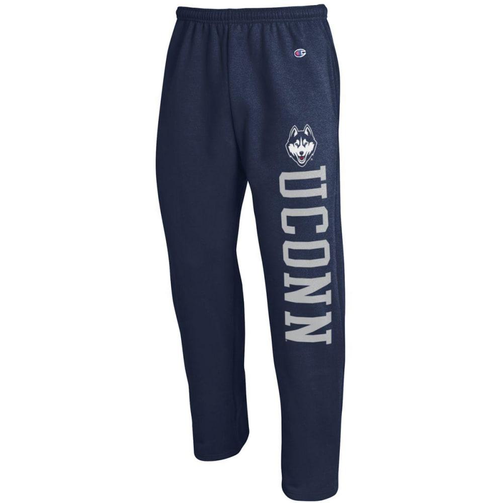 CHAMPION Men's UConn Eco Powerblend Banded Sweatpants - NAVY