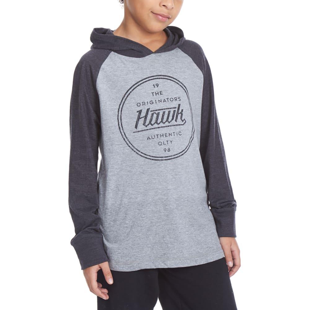 TONY HAWK Big Boys' Hooded Long-Sleeve Graphic Tee - 031-HTHR GREY