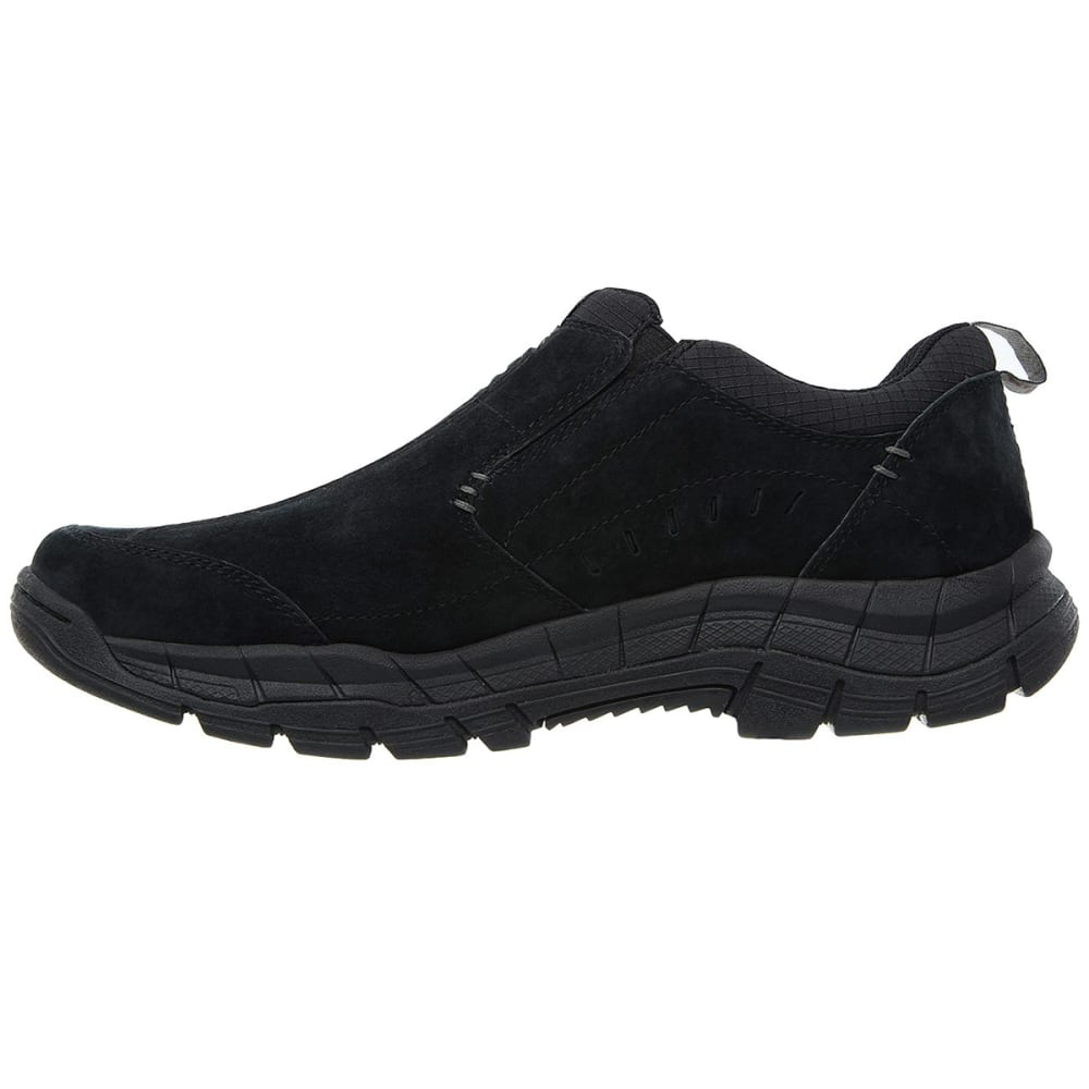 SKECHERS Men's Relaxed Fit: Rig - Mountain Top Moc Slip-On Casual Shoes - BLACK-BBK
