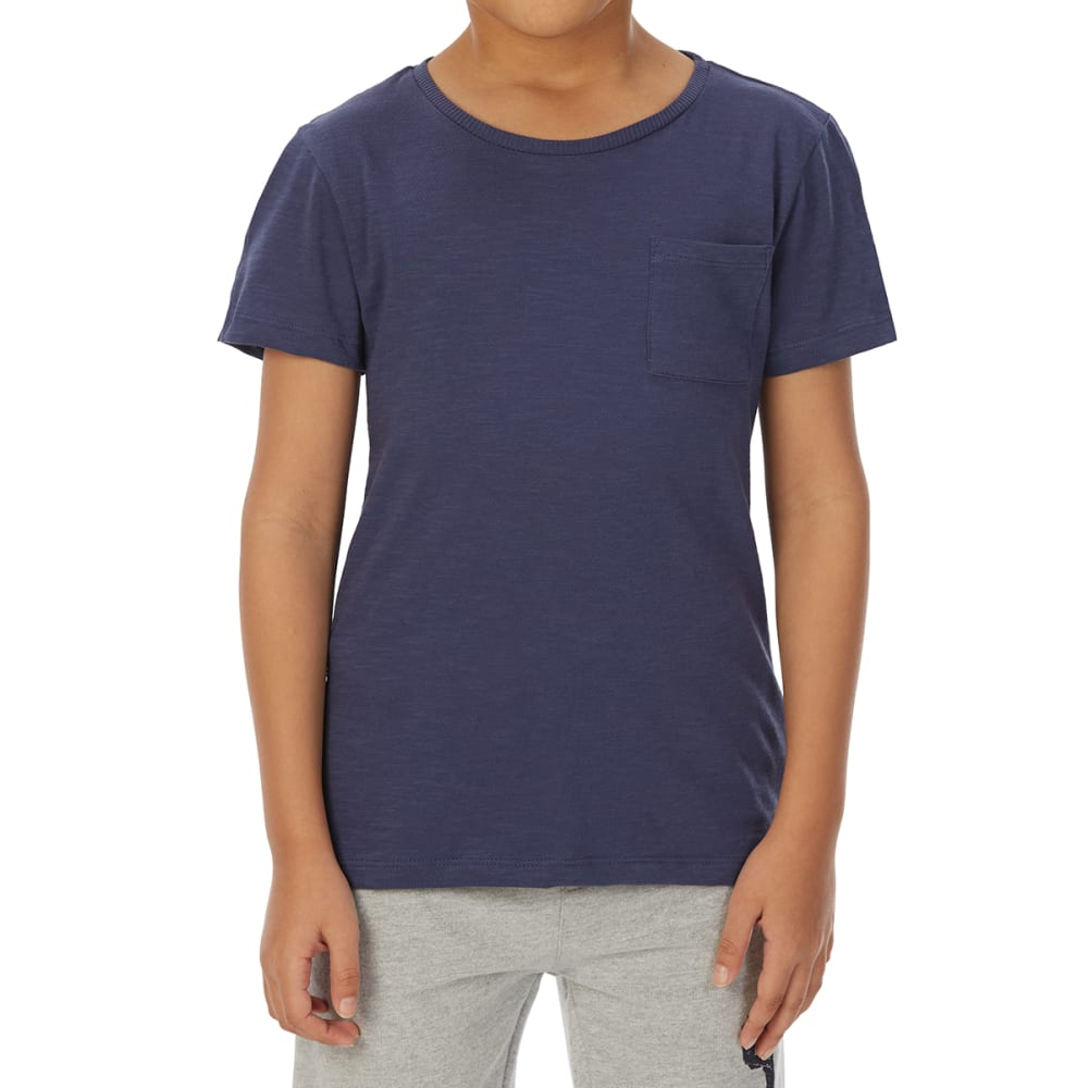 MINOTI Big Boys' Basic Pocket Slub Short-Sleeve Tee 3-4