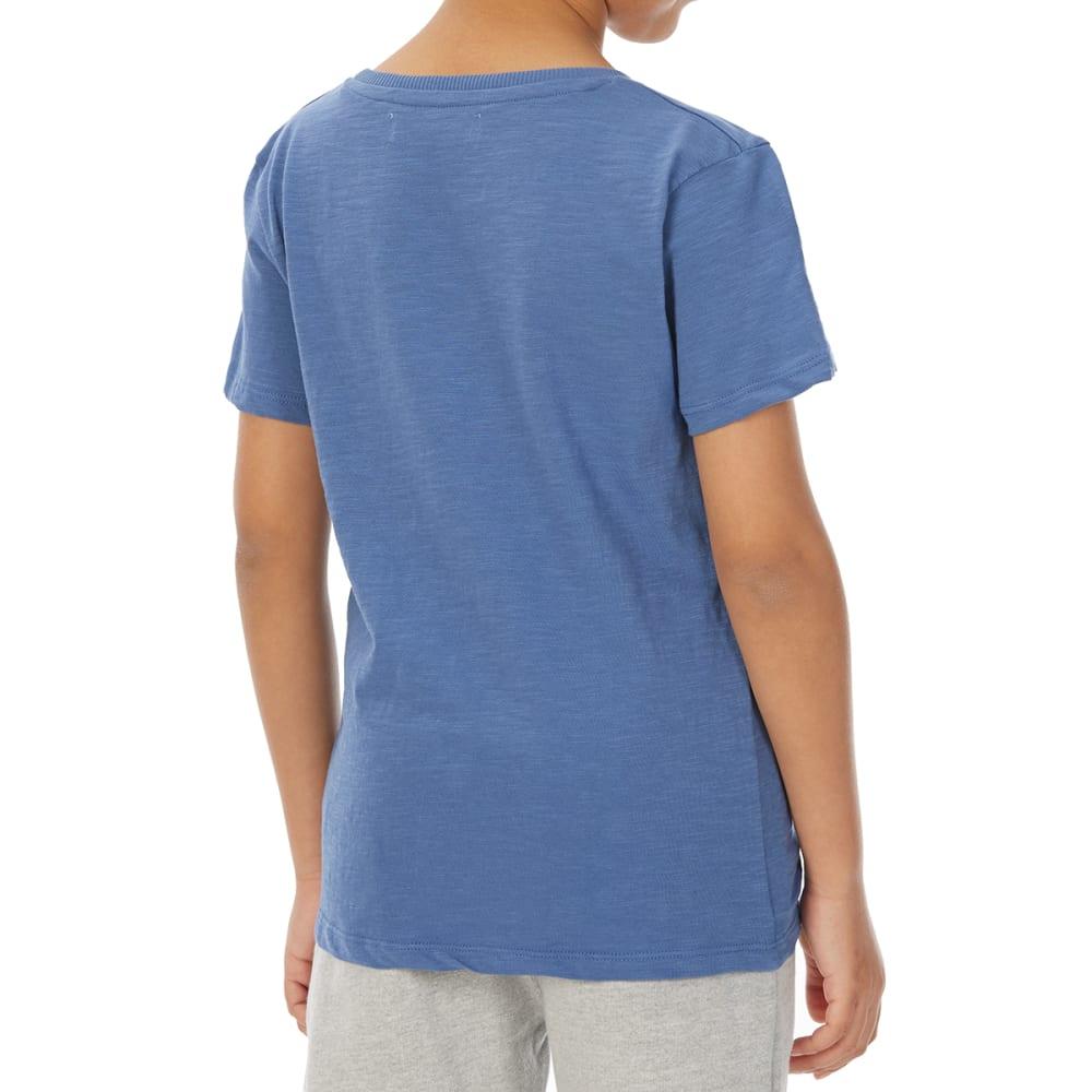 MINOTI Big Boys' Basic Pocket Slub Short-Sleeve Tee - BBS01-DENIM BLUE