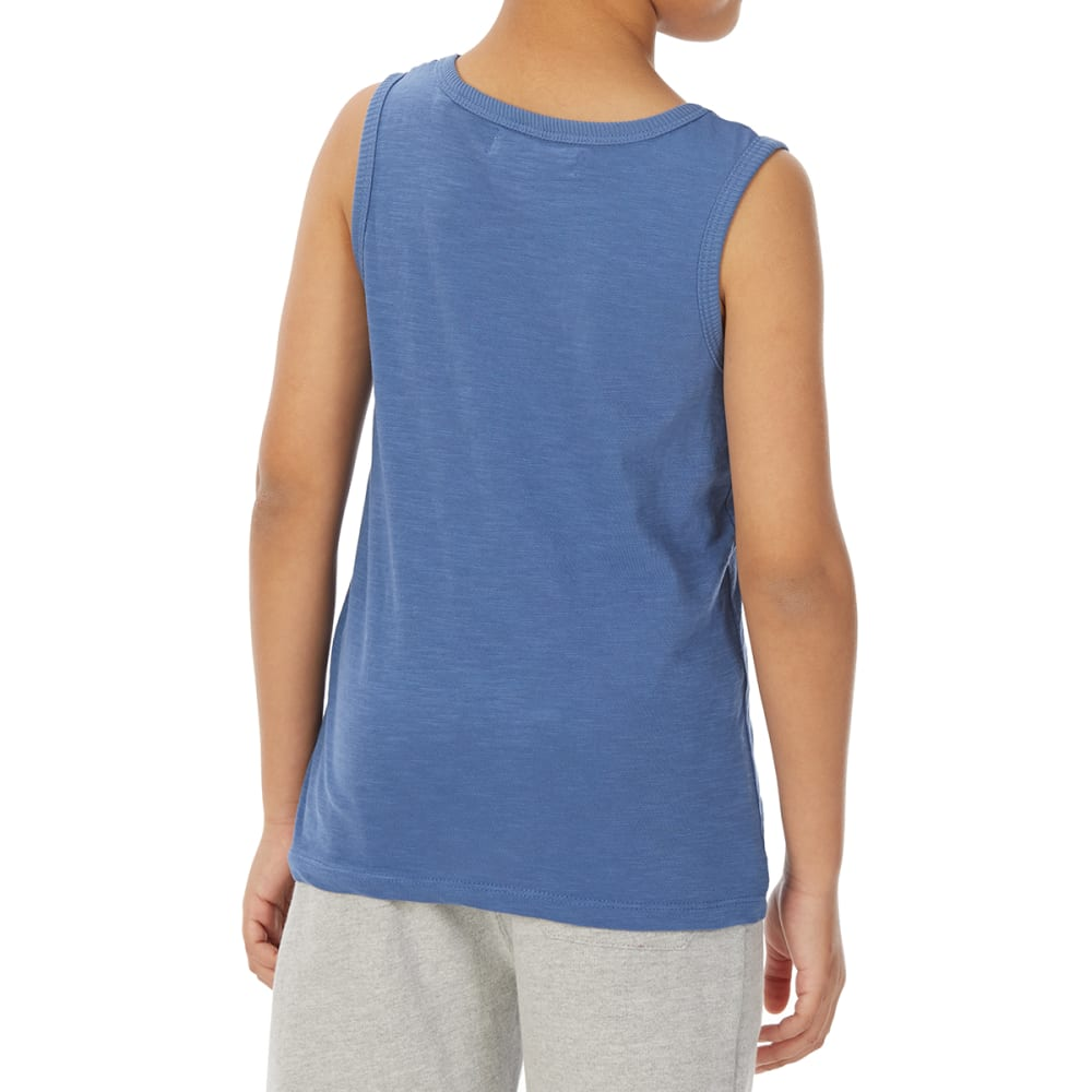 MINOTI Big Boys' Basic Slub Tank Top - BBS12-DENIM BLUE