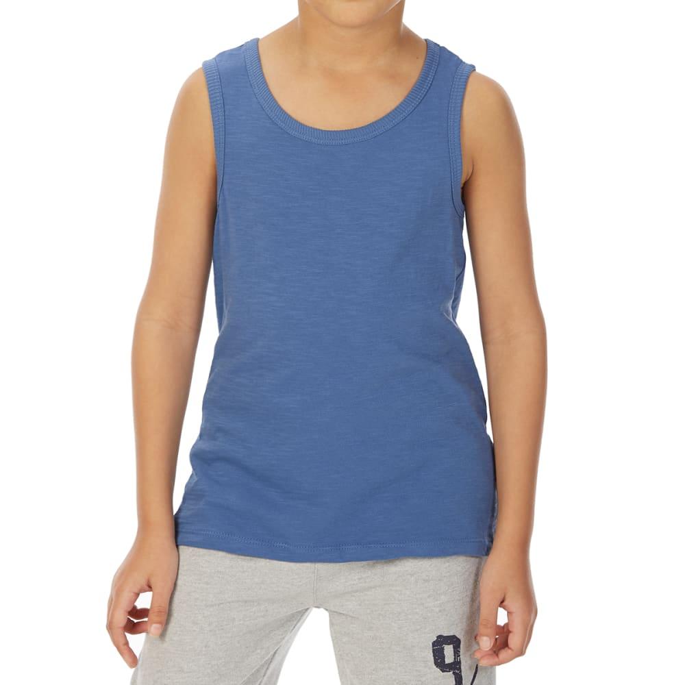 Minoti Big Boys' Basic Slub Tank Top - Blue, 3-4