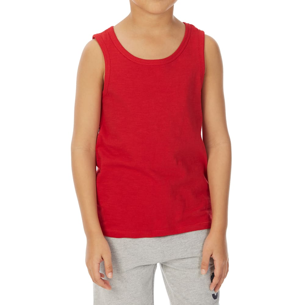 MINOTI Big Boys' Basic Slub Tank Top - BBS13-RED