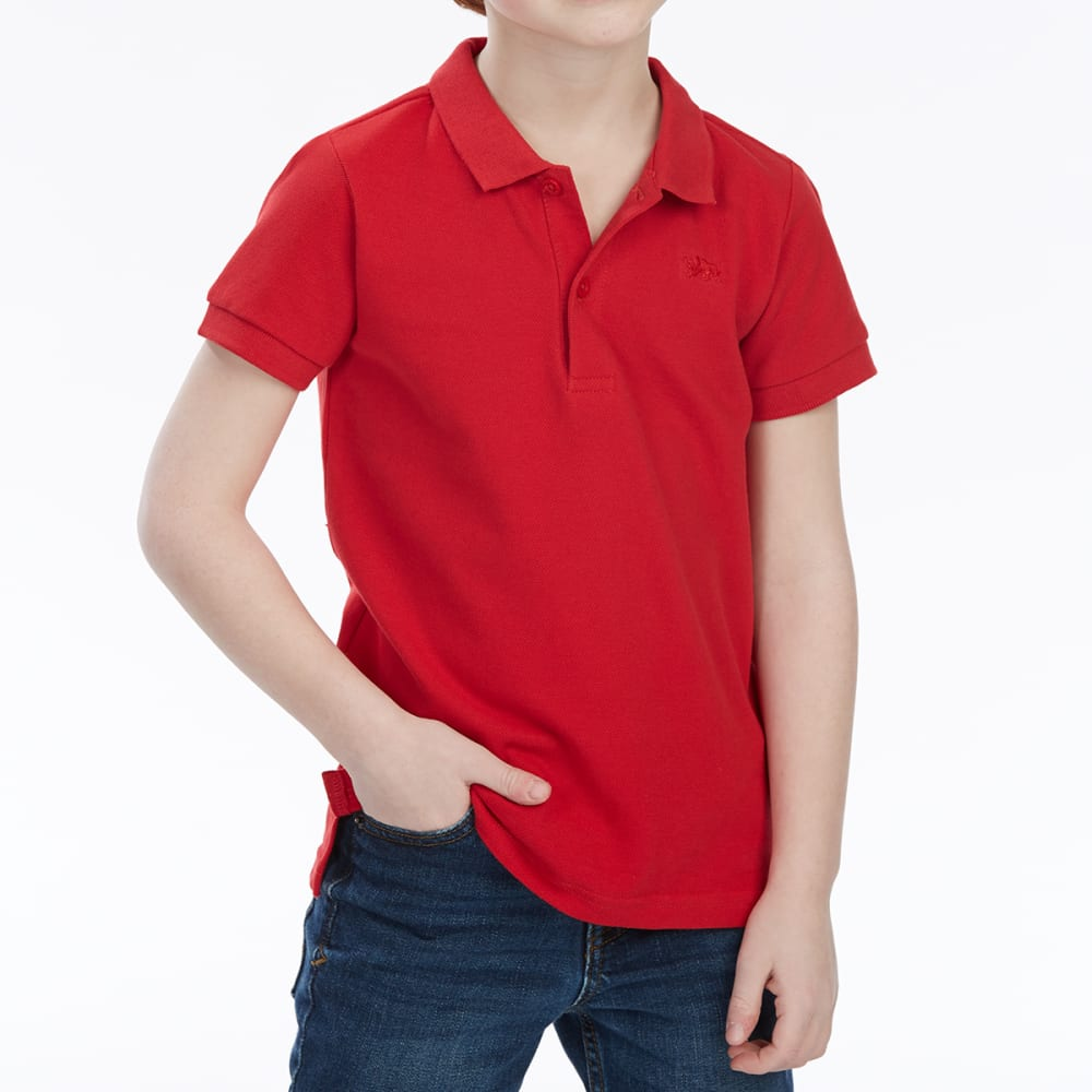 MINOTI Big Boys' Basic Pique Short-Sleeve Polo Shirt - BBS08-RED
