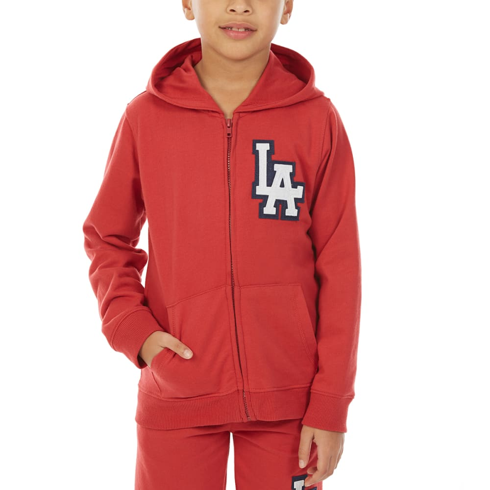 MINOTI Big Boys' Fleece Hoodie - BBS86-LA WASHED RED