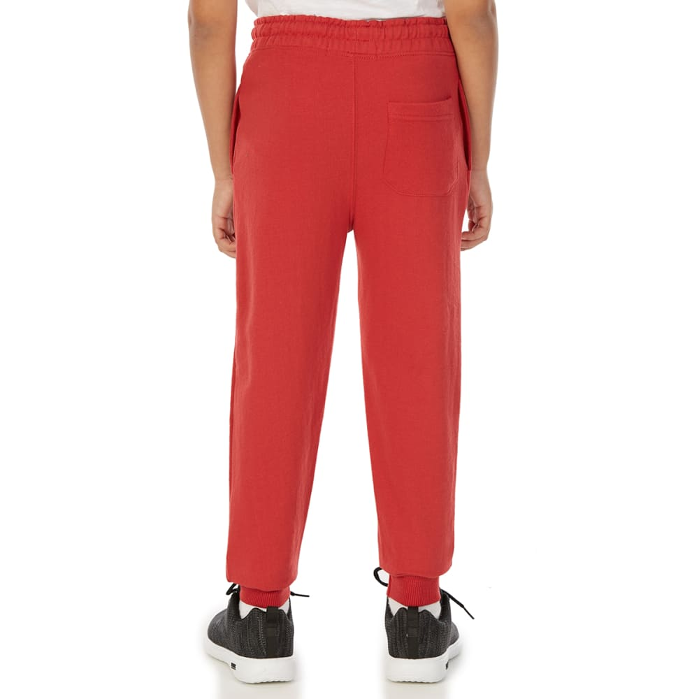 MINOTI Big Boys' Fleece Jogger Pants - BBS91-LA WASHED RED