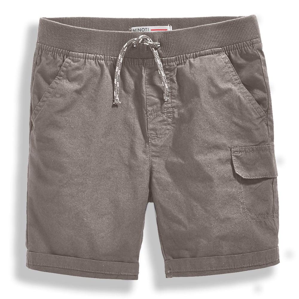 Minoti Big Boys' Basic Poplin Shorts - Black, 3-4