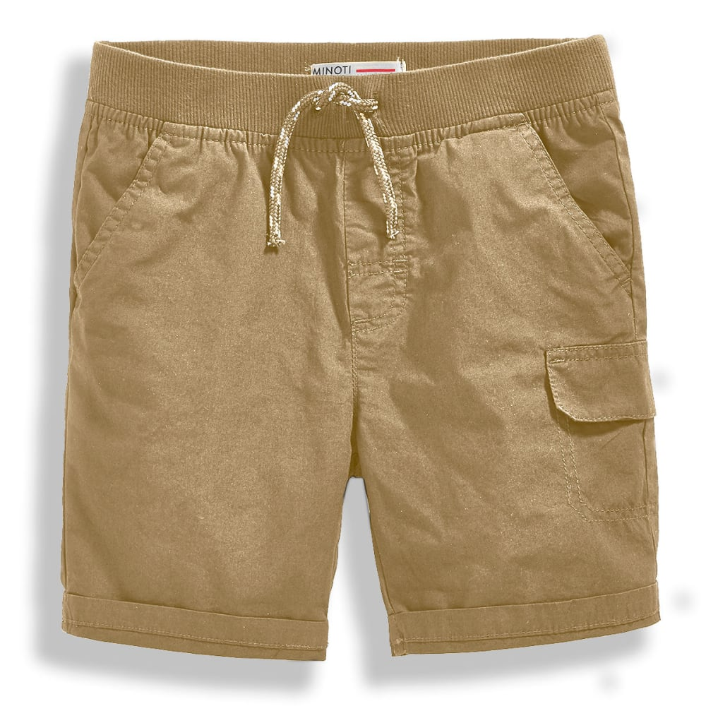 MINOTI Big Boys' Basic Poplin Shorts 3-4