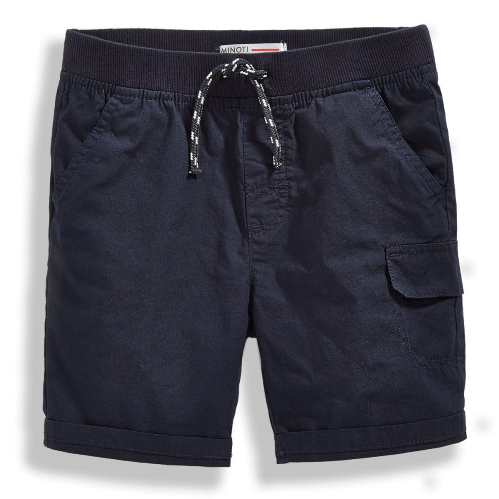 MINOTI Big Boys' Basic Poplin Shorts - BBS22-NAVY
