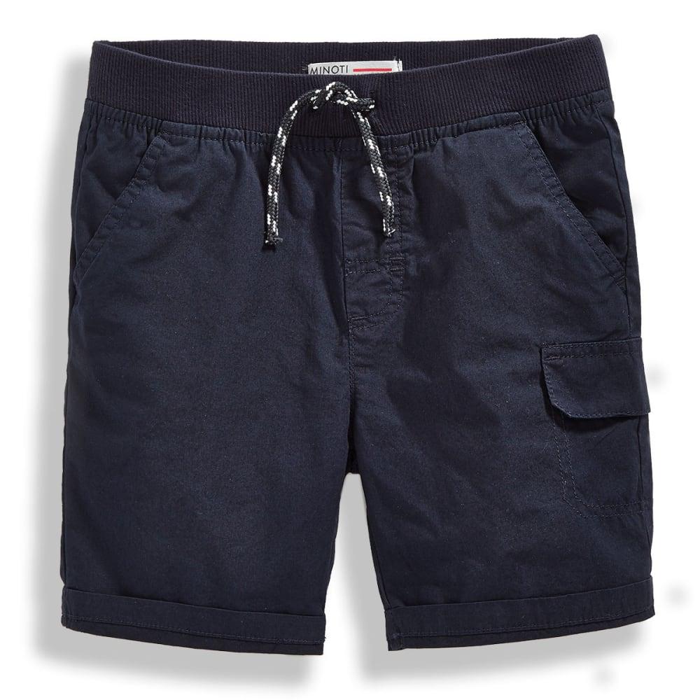 Minoti Big Boys' Basic Poplin Shorts - Blue, 4-5