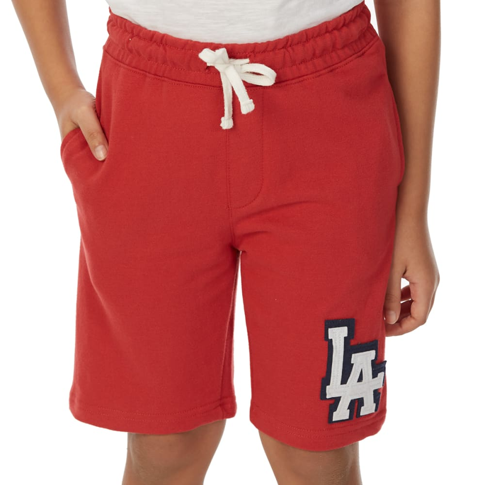 MINOTI Big Boys' Fleece Shorts - BBS96-LA WASHED RED