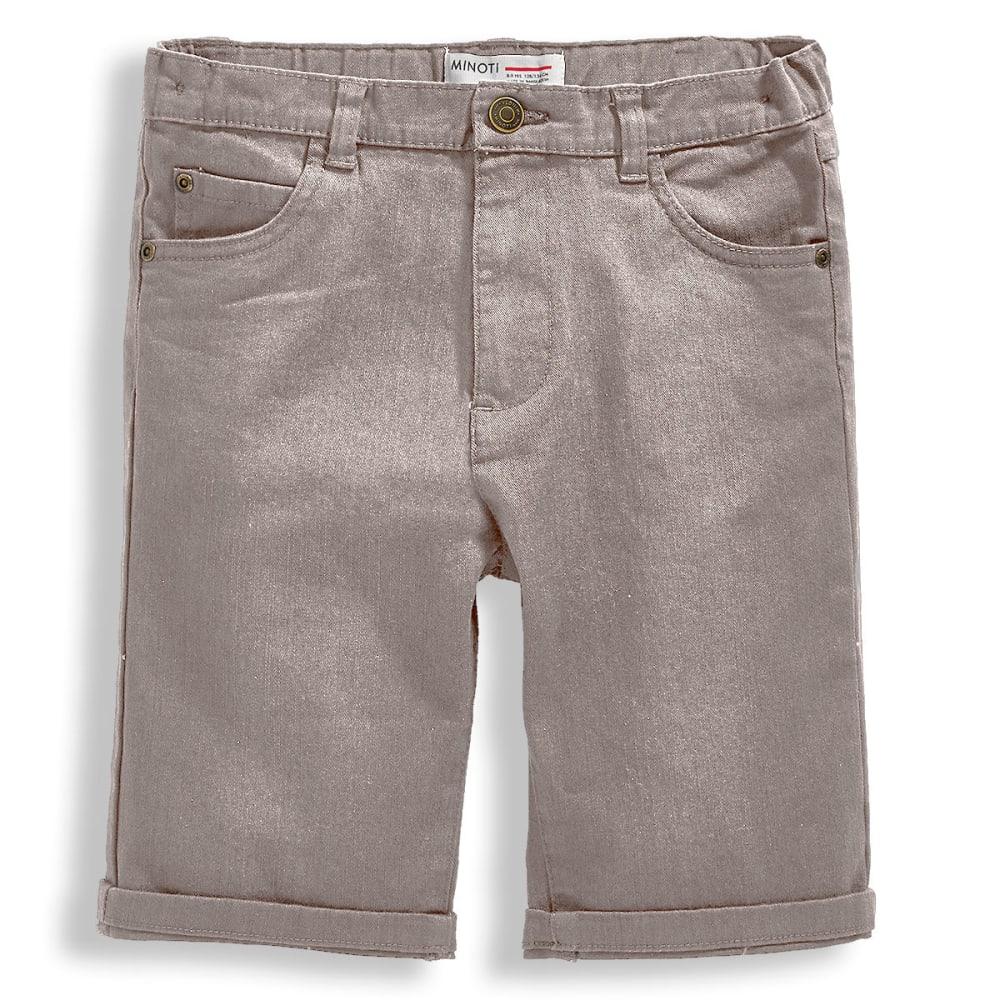 MINOTI Big Boys' Basic Slub Twill Shorts - BBS49-GREY