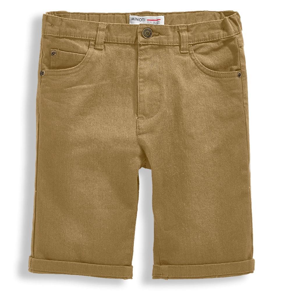 MINOTI Big Boys' Basic Slub Twill Shorts 4-5