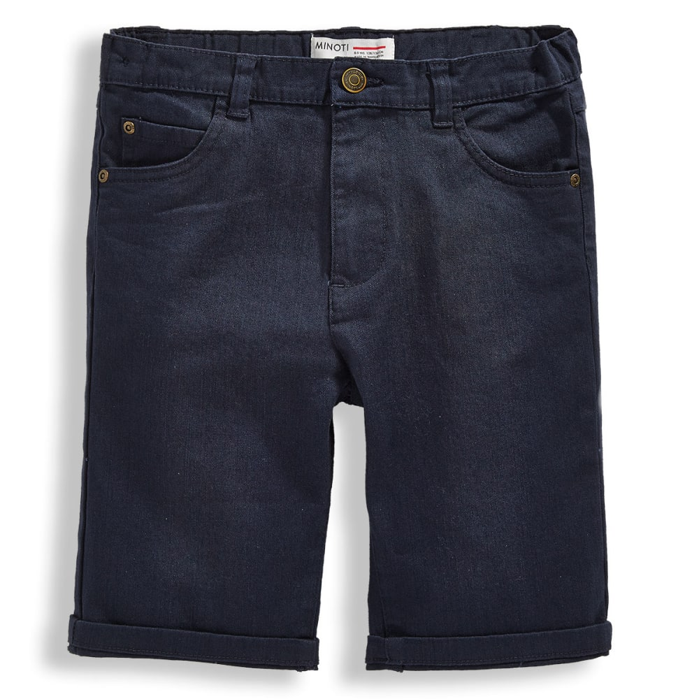 MINOTI Big Boys' Basic Slub Twill Shorts - BBS48-NAVY