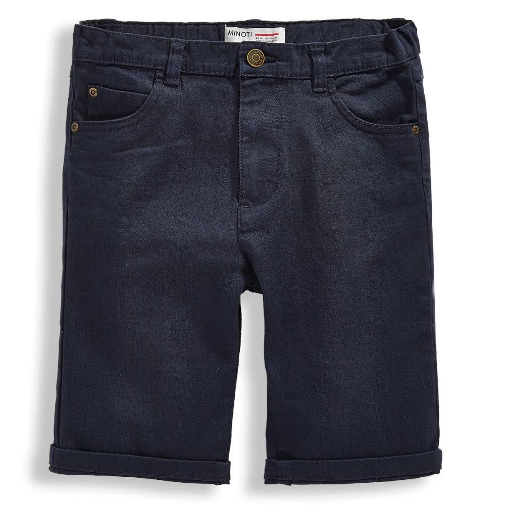 MINOTI Big Boys' Basic Slub Twill Shorts - BBS48-NAVY